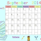 Editable September 2014 SmartBoard Calendar
