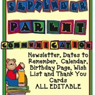 Editable September Parent Communication {Newsletters, Cale