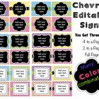 Editable Signs and Posters - Chevron