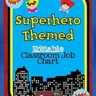Editable Superhero Themed Job Chart