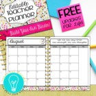 Editable Teacher Planner & Organizer - Hearts Themed {2013