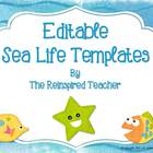 Editable Templates (Sea Life Theme)
