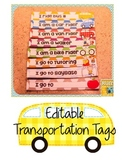 Editable Transportation Tags