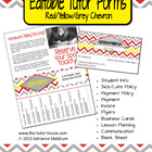 Editable Tutor Forms {Red, Yellow, Grey Chevron}