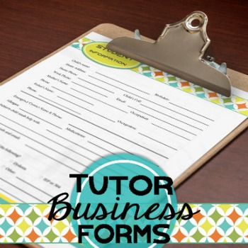 Editable Tutor Forms {The Village Tutor}