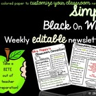 Editable Weekly Newsletter Template~Edit, Print and Go!