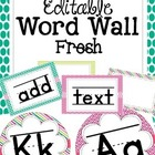 Editable Word Wall {FRESH}