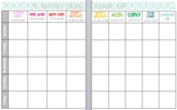 """Editable and Customizable Lesson Plan Template """"Book View"""""""