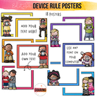 Editable iPad Rule Posters