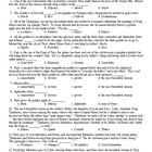 Edith Hamilton's Mythology Ch 13 Mult Choice Test (50q) & KEY