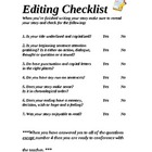 Editing Checklist for Writing grade 2-4
