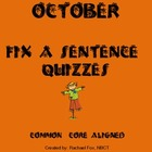 Editing a Sentence (Sentence editing)- October