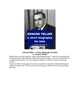 Edward Teller - A Short Biography for Kids