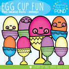Egg Cup Fun - Easter Graphics From the Pond