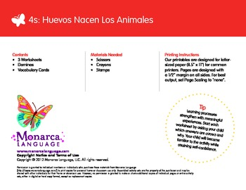 Egg-born Animals Spanish Lesson (4s) - Huevos Nacen Los Animales