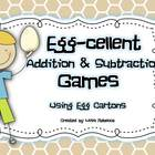 Egg-cellent Addition &amp; Subtraction Games Using Egg Cartons