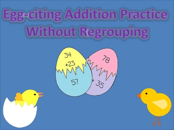 Egg-citing Addition Practice without Regrouping