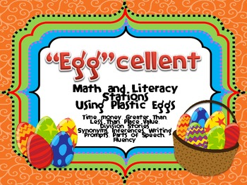 """Egg""cellent Math and Literacy Centers/Workstations"