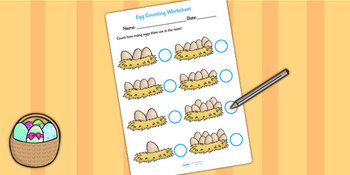 Eggs In Nest Counting Sheet