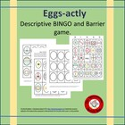 Eggs-actly Descriptive  Game Cards and Bingo