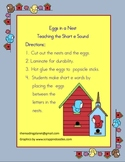 Eggs in a Nest, Teaching the Short e Sound