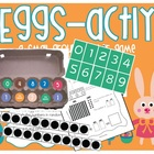 Eggsactly - Math Center Game / Activity - Number & Addition