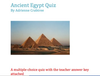 Egypt Quiz (Multiple Choice)