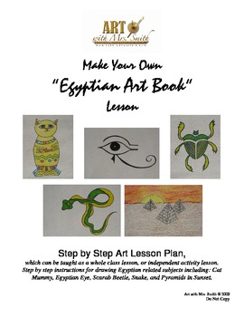Egyptian Art Book: Make Your Own Art Book Lesson
