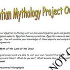 Egyptian Mythology PowerPoint and Project Bundle