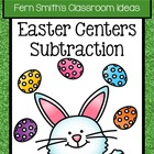 Eight Easter / Spring Subtraction Center Games