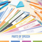 Eight Parts of Speech Posters
