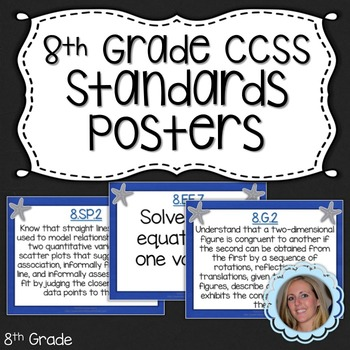 Eighth Grade Math Common Core Standards Posters