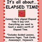Elapsed Time Common Core 5 Day Unit