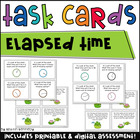 Elapsed Time Task Cards: Hopping Around the Clock