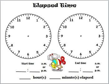 Elapsed Time dry erasable template