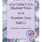 Elapsed Time on a Number Line in Third Grade Unit