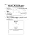 Eleanor Roosevelt Fill-in-the-Blank Quiz