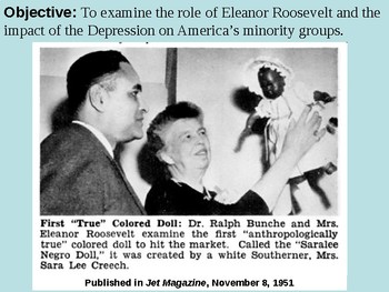 Eleanor Roosevelt and the Treatment of Minorities PPT