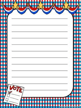 Election Patriotic Themed Writing Paper