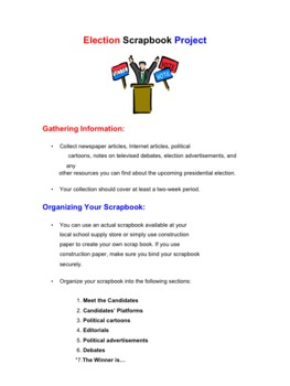 Election Scrapbook Project & PPT