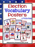 Election Vocabulary Posters - Word Wall - Memory Matching Game