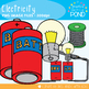 Electricity Clipart Graphics - Color + Line Art