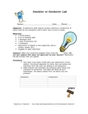 Electricity: Insulator or Conductor Lab