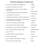 Electriciy and Magnetism Quiz