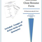 Electronic Cloze Resume Form with Action Verbs + Synonyms