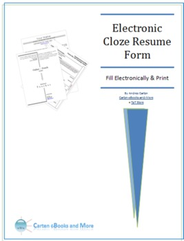 Electronic Cloze Resume Form