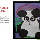 Elementary Art Lesson - Panda Bear Collage
