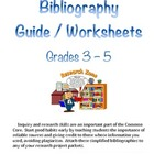 Elementary Bibliography Guide / Worksheet