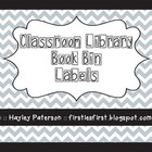 Elementary Classroom Library Book Bin Labels