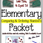 Elementary Comparing & Ordering Numbers Packet (JAM-PACKED!)